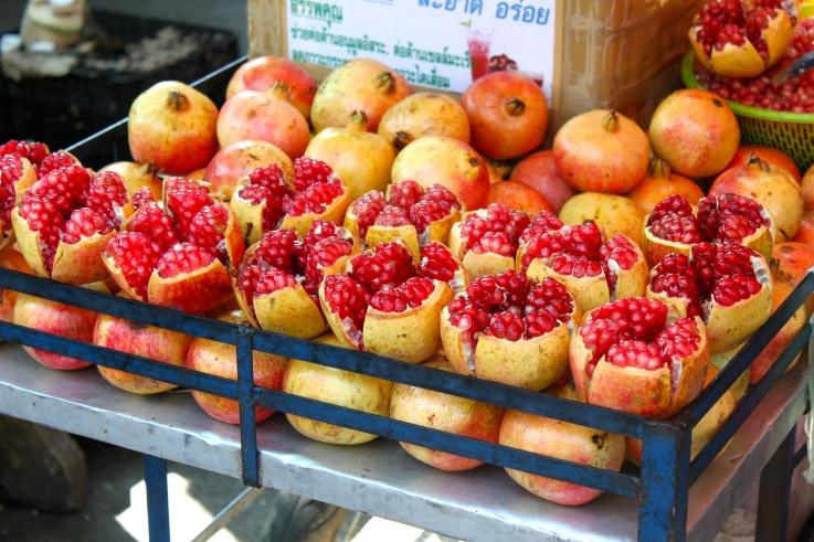 Bangkok Street Food Pomegranates