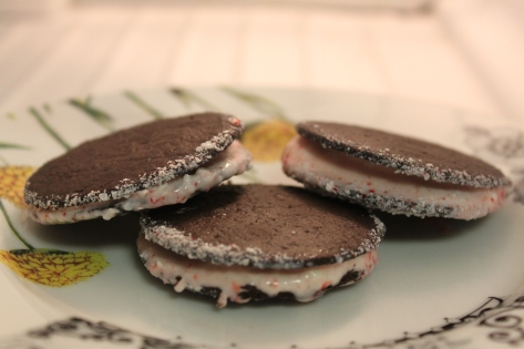 Chocolate Peppermint Candy Ice Cream Sandwiches Final