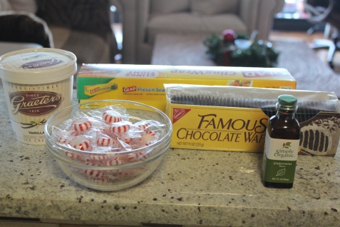 Chocolate Peppermint Ice Cream Sandwiches Ingredients