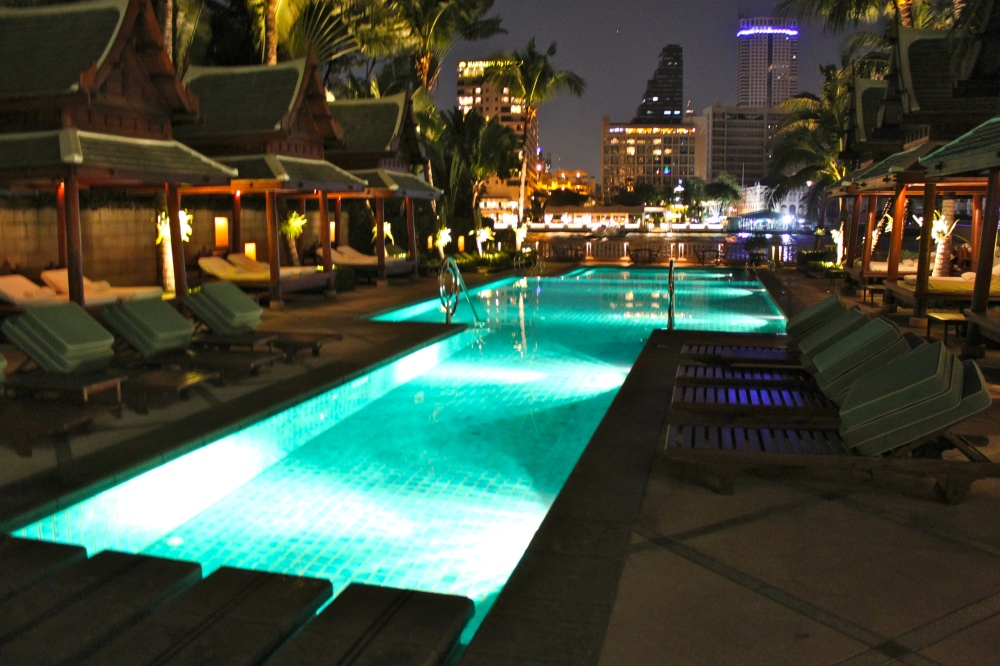 The Peninsula Pool at Night