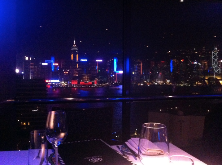 View From Oyster & Wine Bar - Sheraton Hong Kong