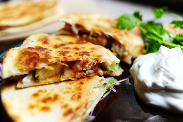 Grilled Chicken & Pineapple Quesadillas