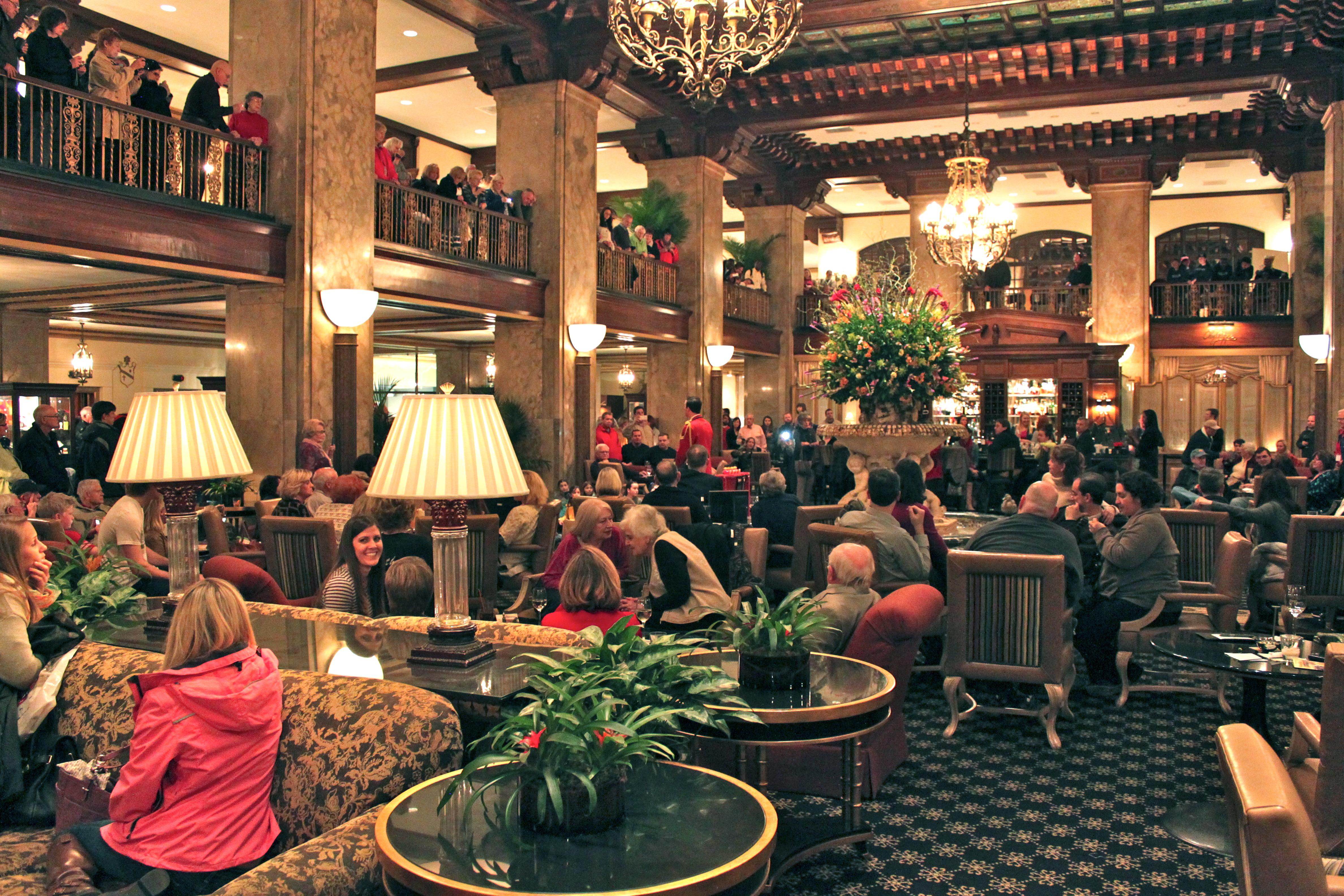 The Peabody Hotel Lobby Alicia Tastes Life