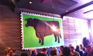 Grange Hall Burger Bar Cow‏
