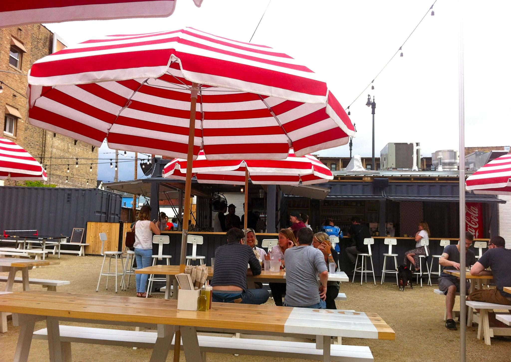Parsonu0027s Chicken U0026 Fish Patio Umbrella