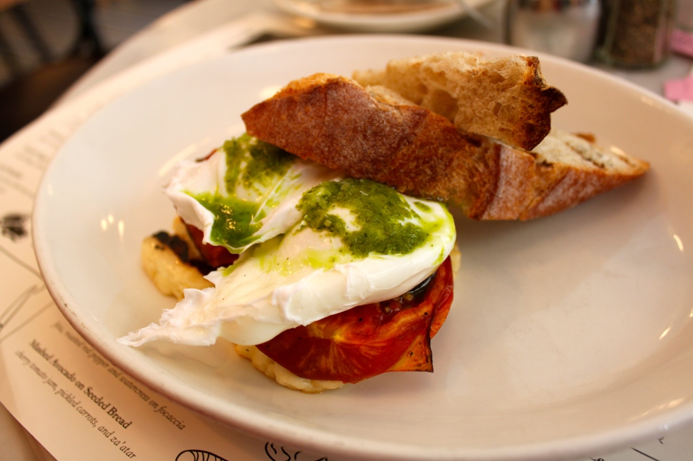 Jack's Wife Freda Poached Eggs with Grilled Tomato & Haloumi
