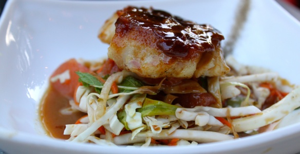 Myers and Change Tamarind-Glazed Hake