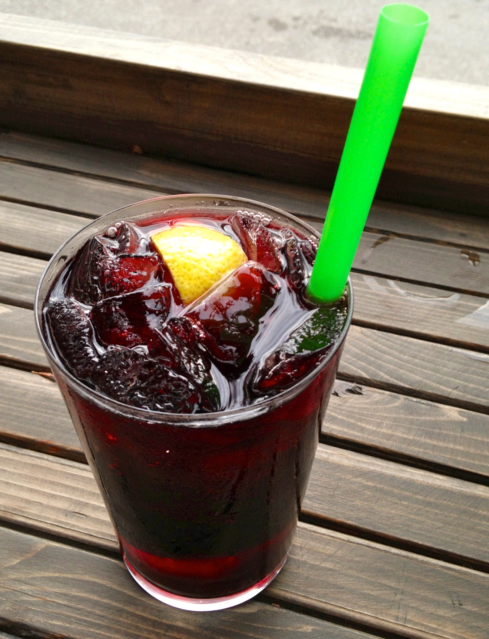 "started with the Kalimotxo , described as ""sangria-like"" with ..."
