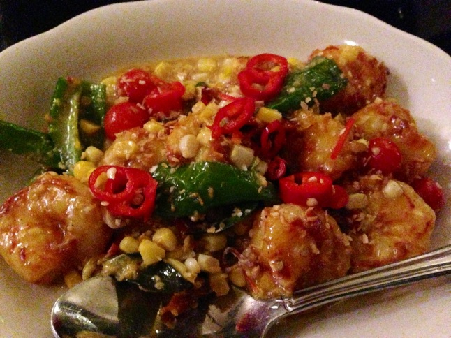 Fat Rice Shrimp & Sweet Corn Stirfry