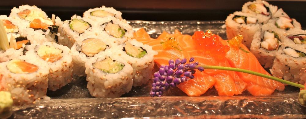 Katsu Rolls and Salmon Nigiri