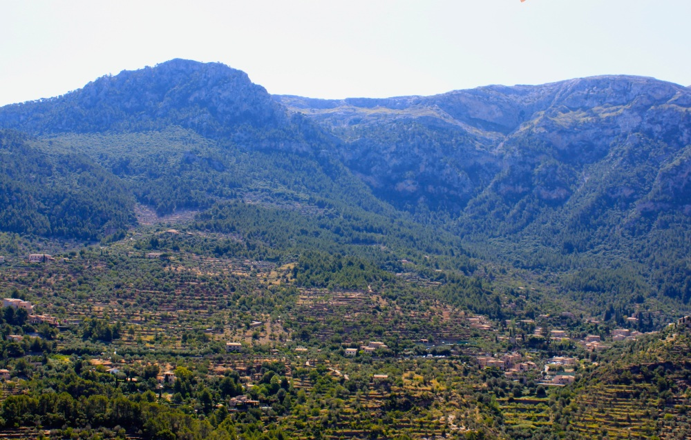 View of Serra de Tramuntana from Sa Pedrissa
