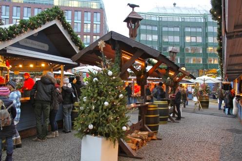 Hamburg Town Hall Christmas Market Tree