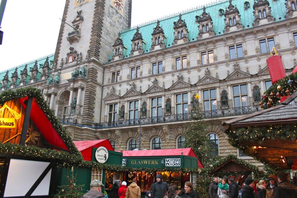Hamburg Town Hall Christmas Market