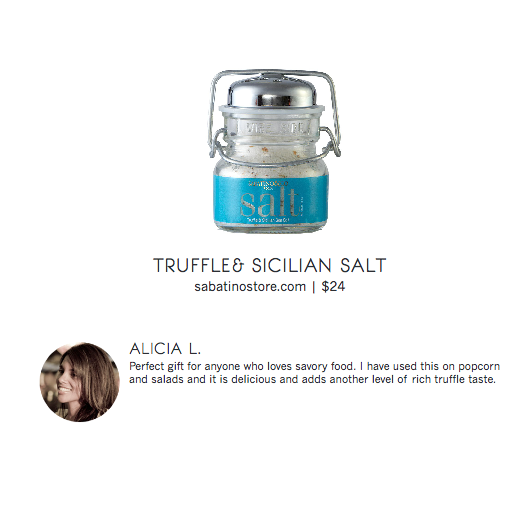 Chicago Food Bloggers Gift Guide Truffle Salt