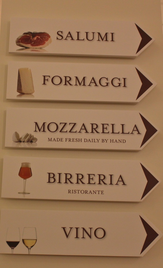 Eataly Chicago Signs