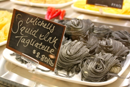 Eataly Chicago Squid Ink Tagliatelle