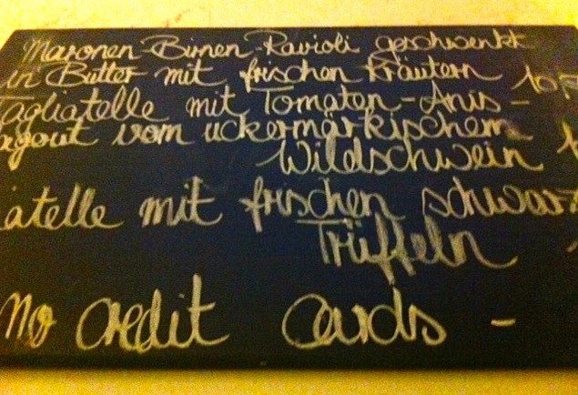 Mädchenitaliener Chalkboard