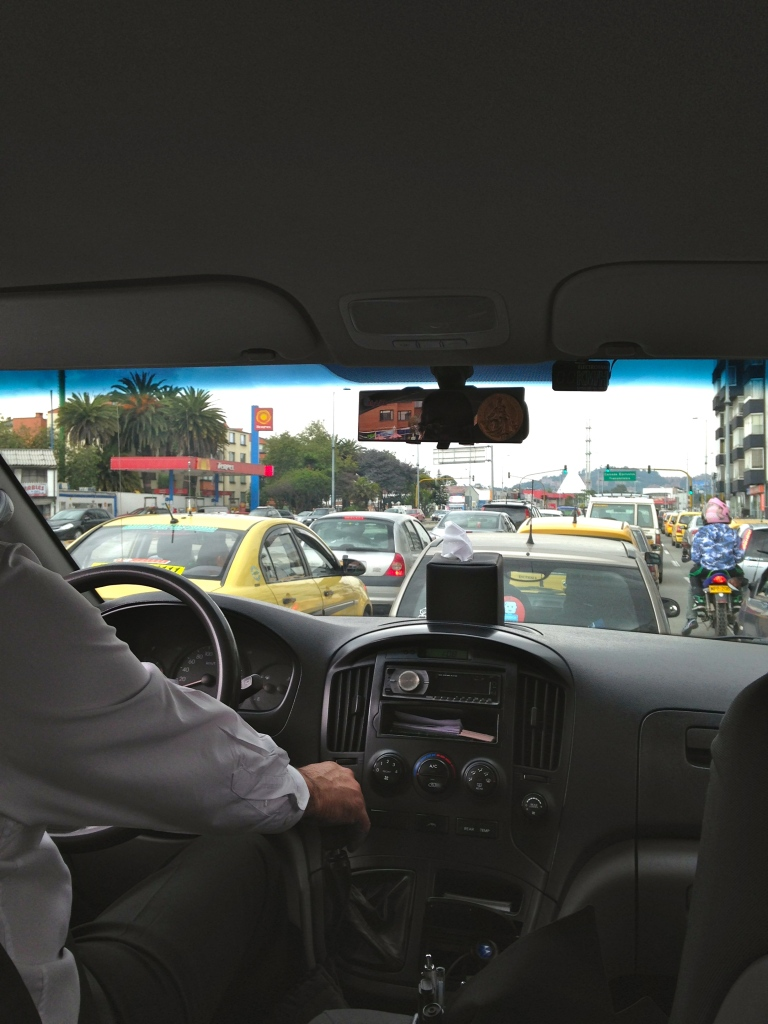 Bogotá Traffic Xmas Eve