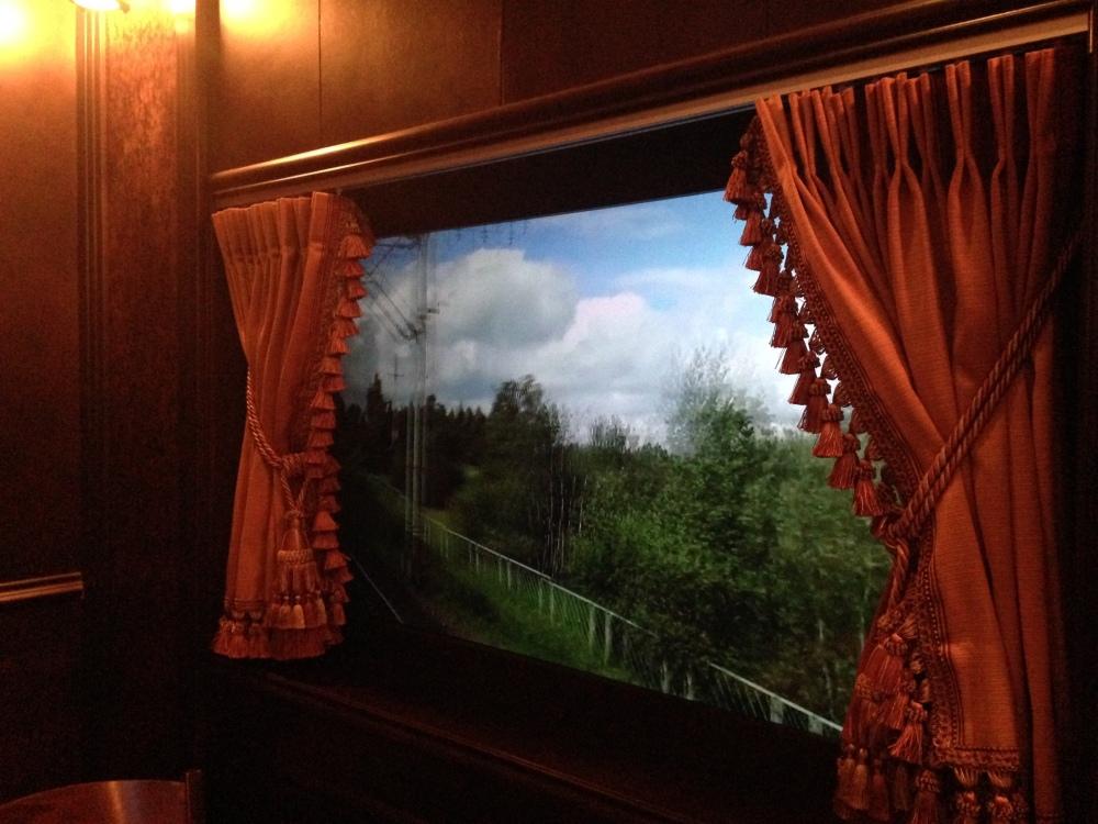 Red Square Train Window