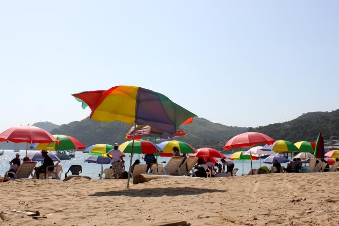 Taboga Island Umbrellas