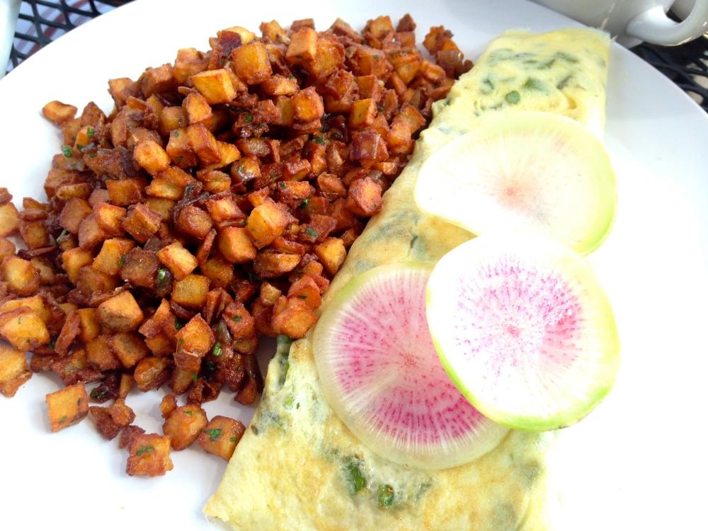 Bread and Wine Seasonal Omelette
