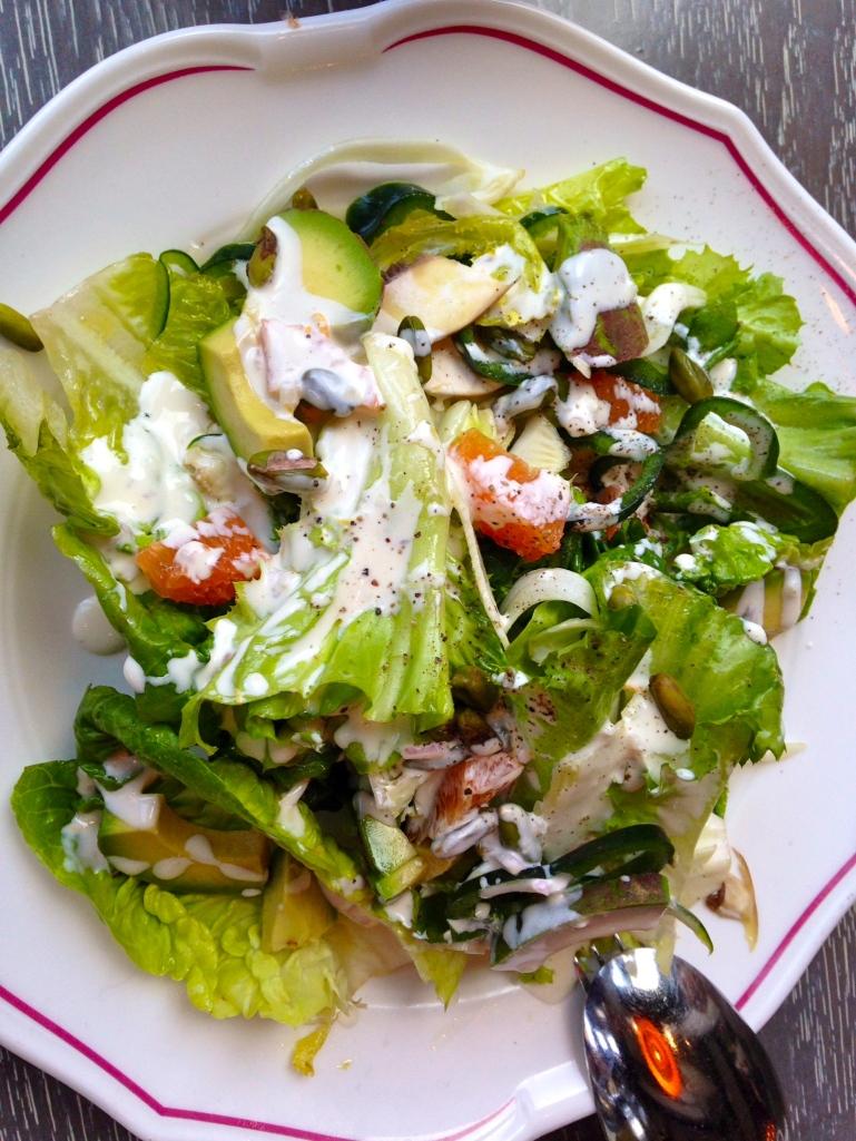 Nico Osteria Escarole and gem lettuce salad