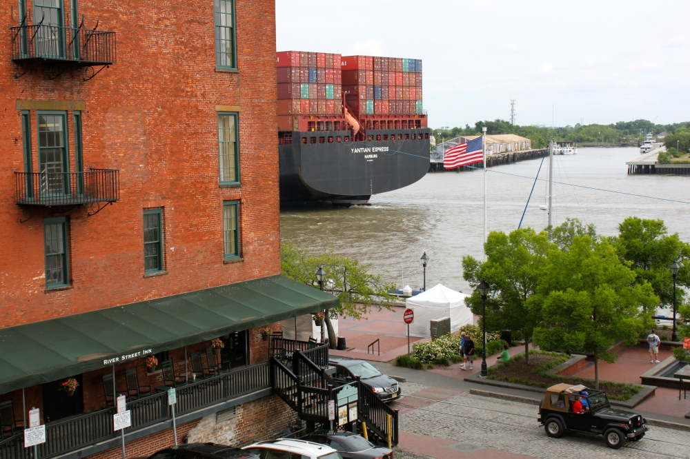 River Street Savannah River