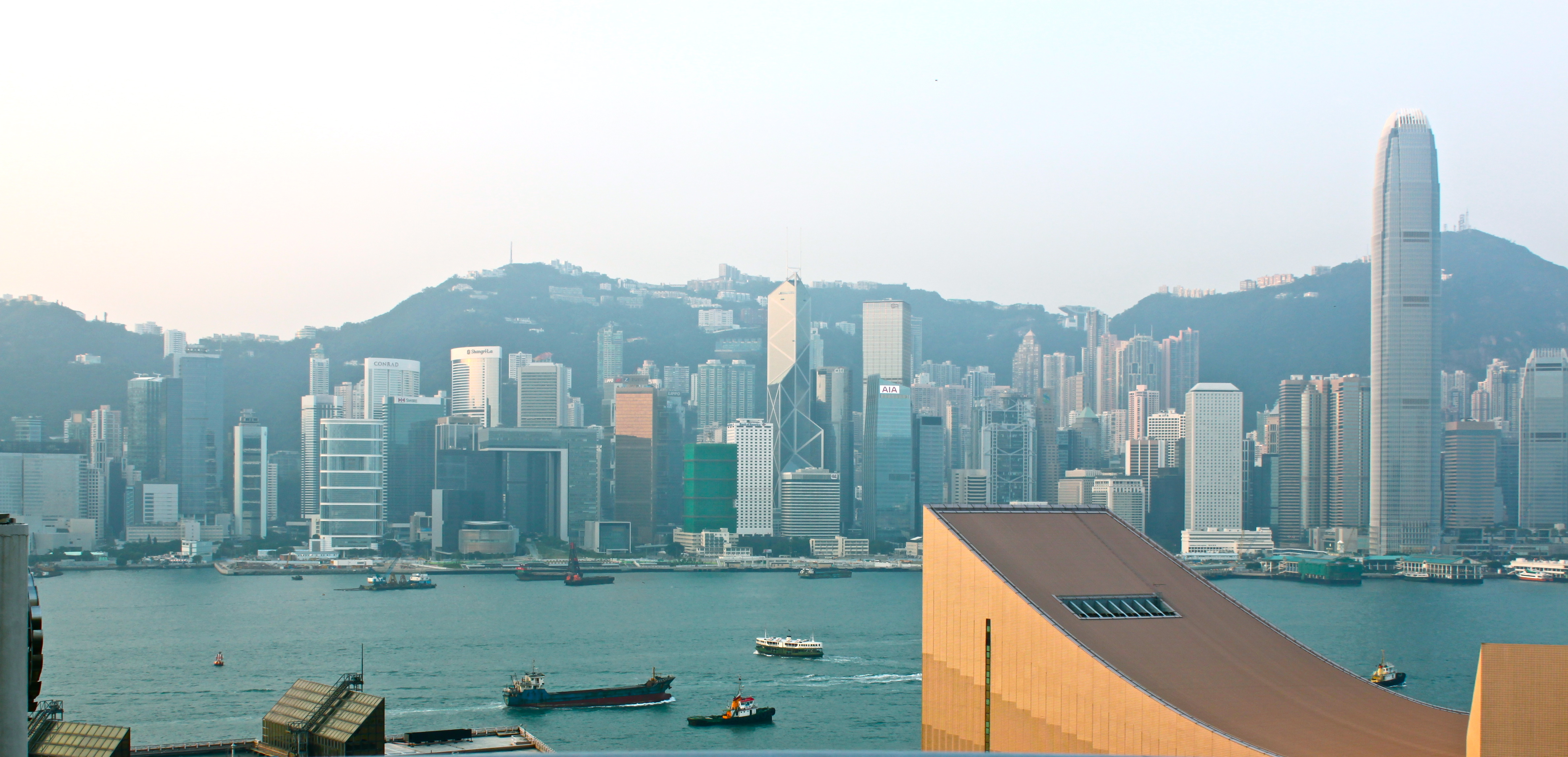 Hong Kong Skyline And Victoria Harbor From Kowloon