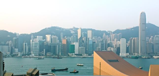 Hong Kong Skyline View From Sheraton