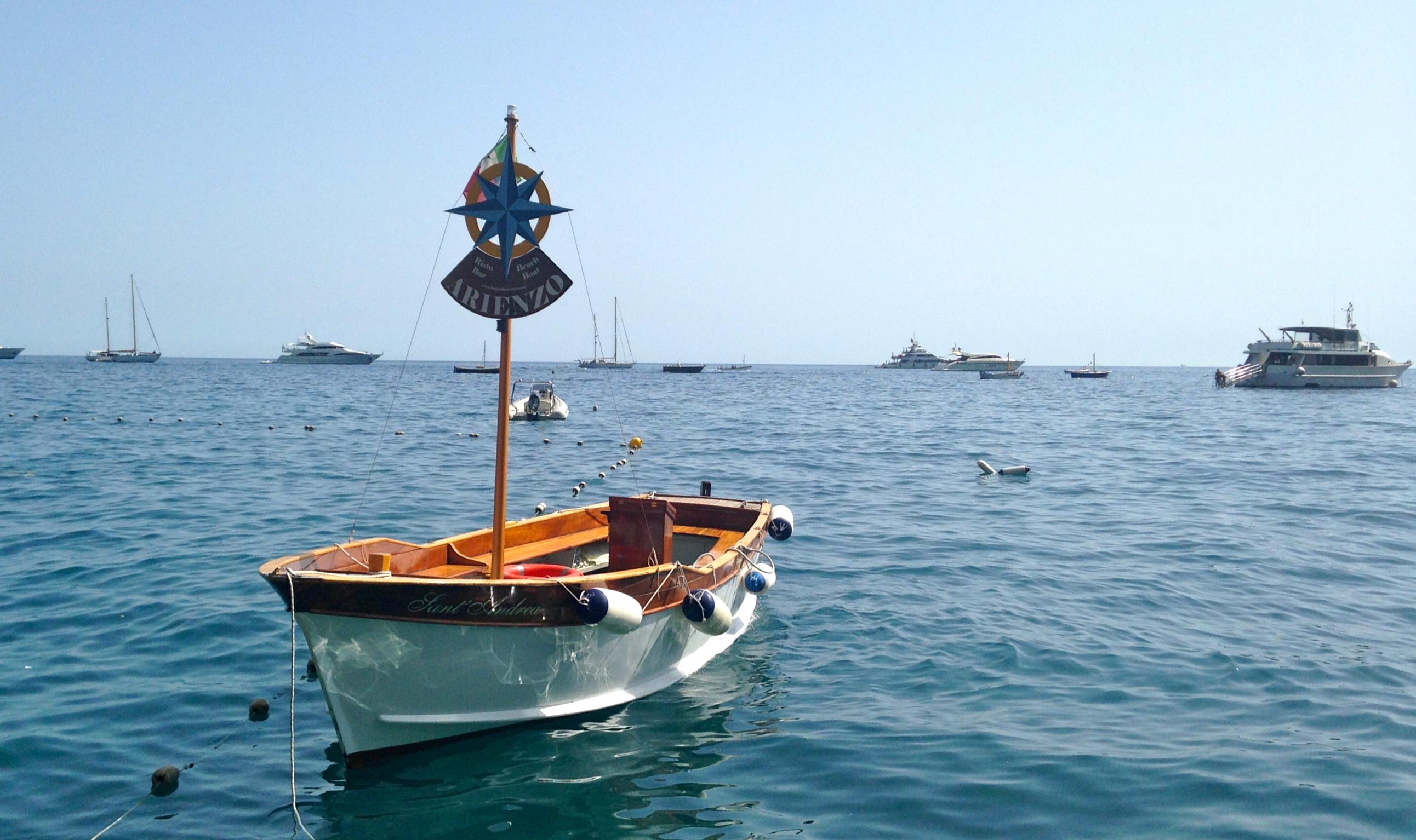 Arienzo Beach Club Boat
