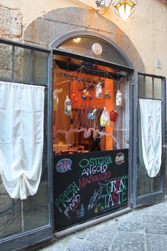 Osteria Angelo Masuccio Salerno Italy Window