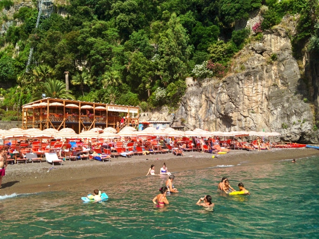 View of Arienzo Beach Club From Dock