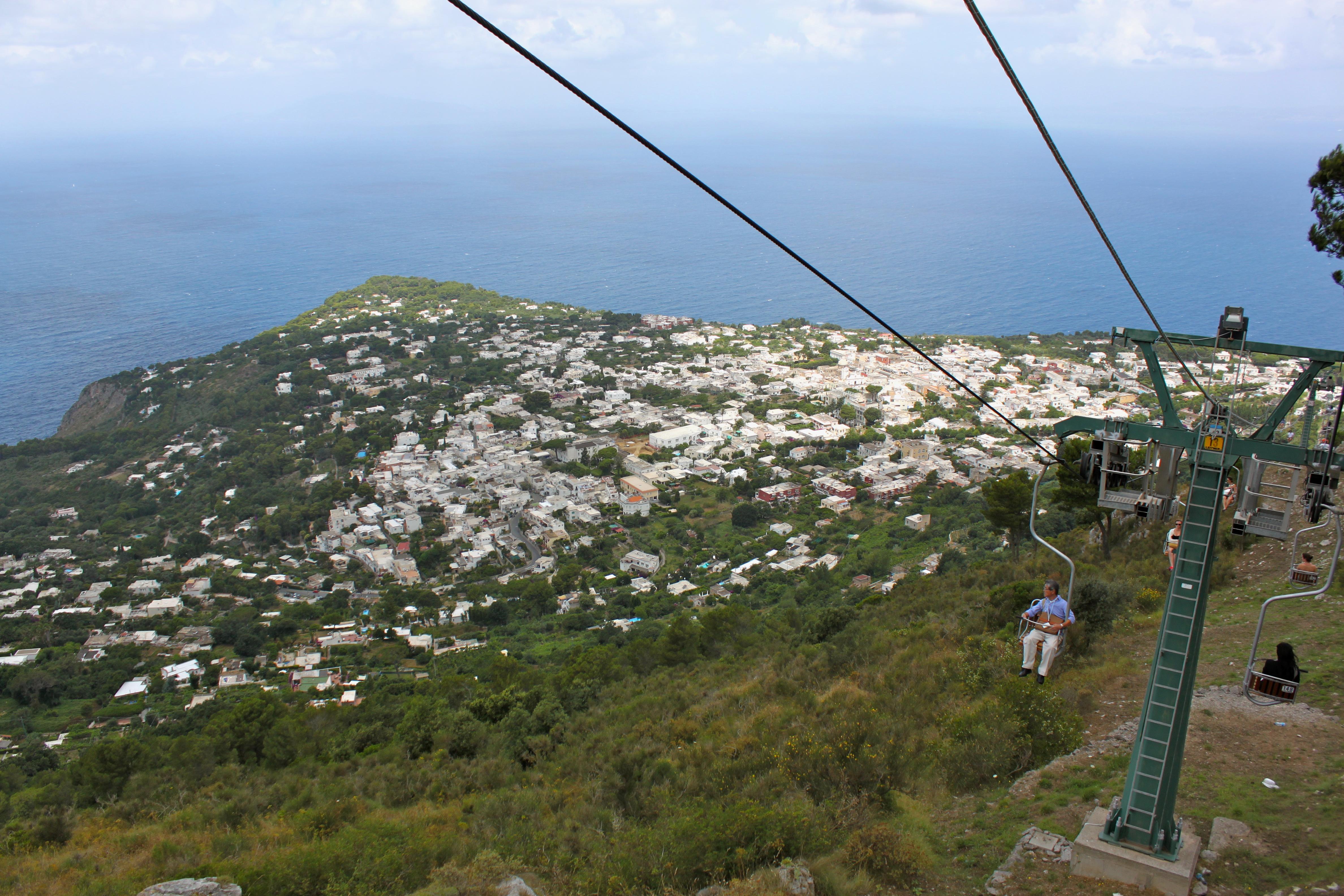chairlift to mount solaro anacapri italy alicia tastes life