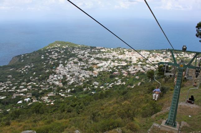 Chairlift down Mount Solaro Anacapri