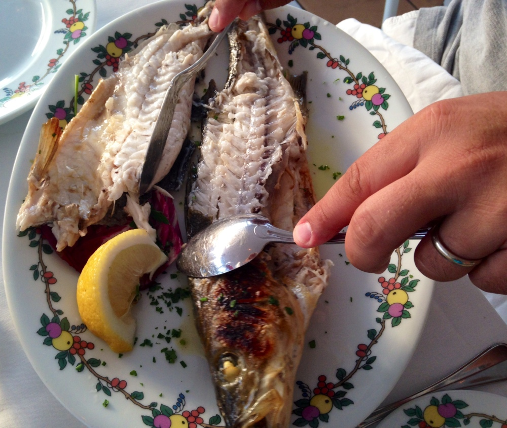 Fresh catch of the day: Branzino