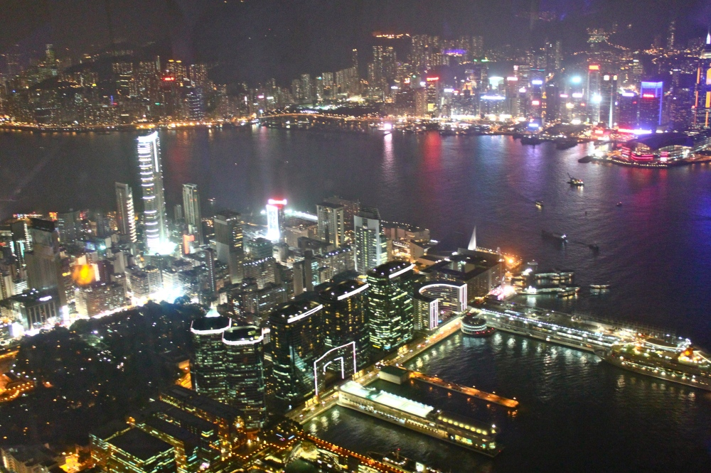 View from Ozone at the Ritz Carlton Hong Kong