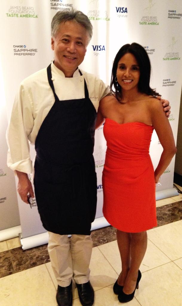 Chef Takashi Yagihashi and Alicia Lauhon at the James Beard Foundation's Taste America Chicago