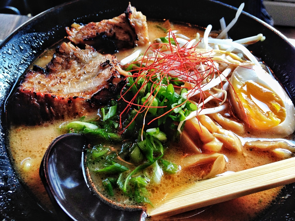 Wasabi Chicago Spicy Roasted Garlic Miso Ramen