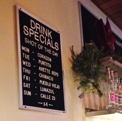 Dove's Luncheonette Drink Specials