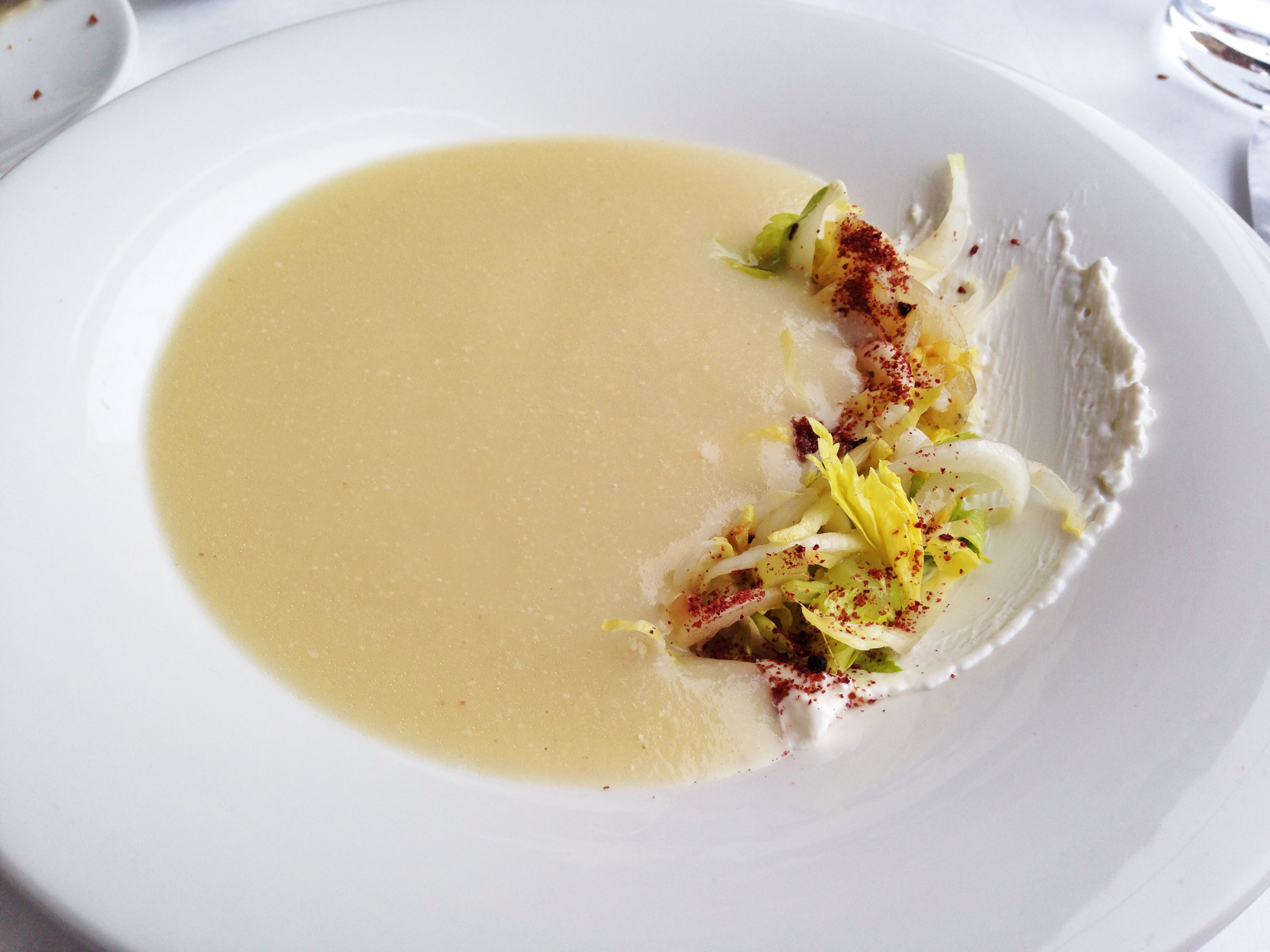 Blackbird Chicago Celery Root Soup