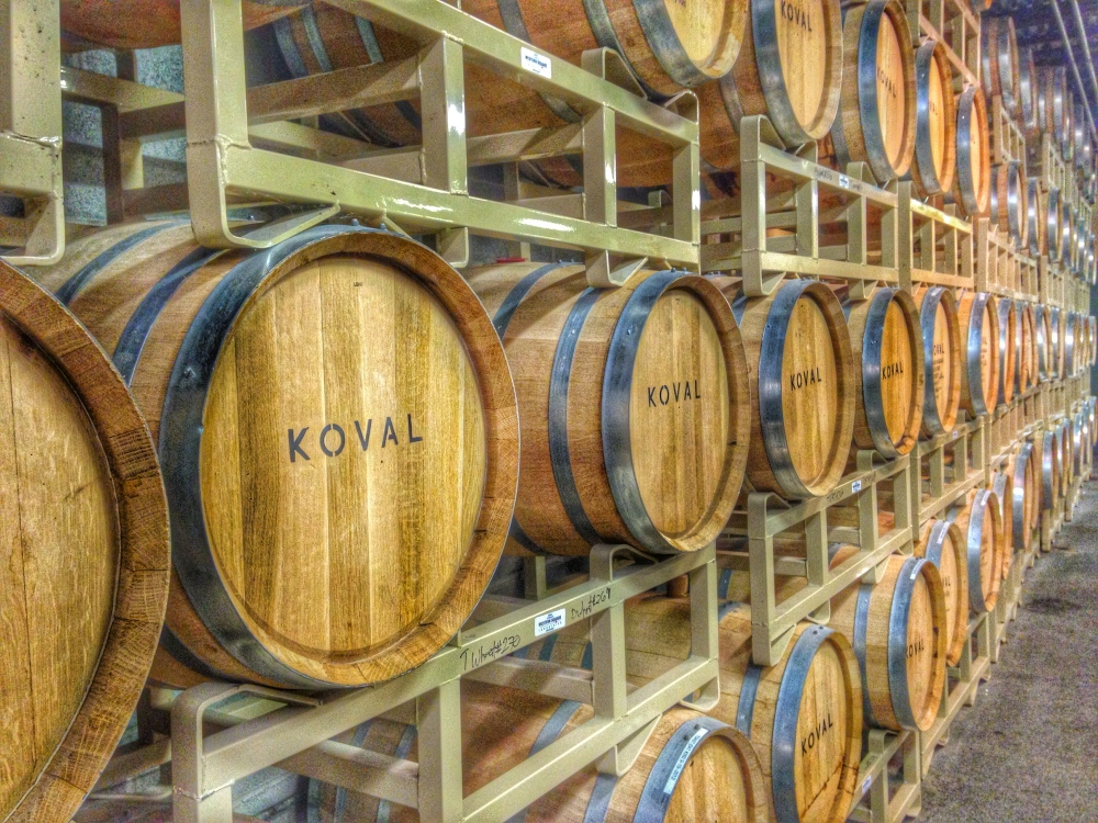 Koval Distillery Whiskey Barrels