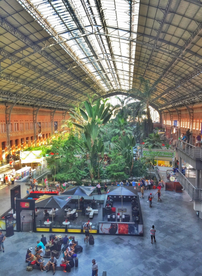 tropical gardens in atocha Madrid station