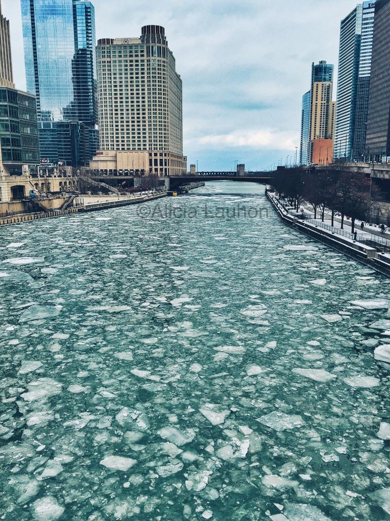 Chicago River Jan 2016 Winter