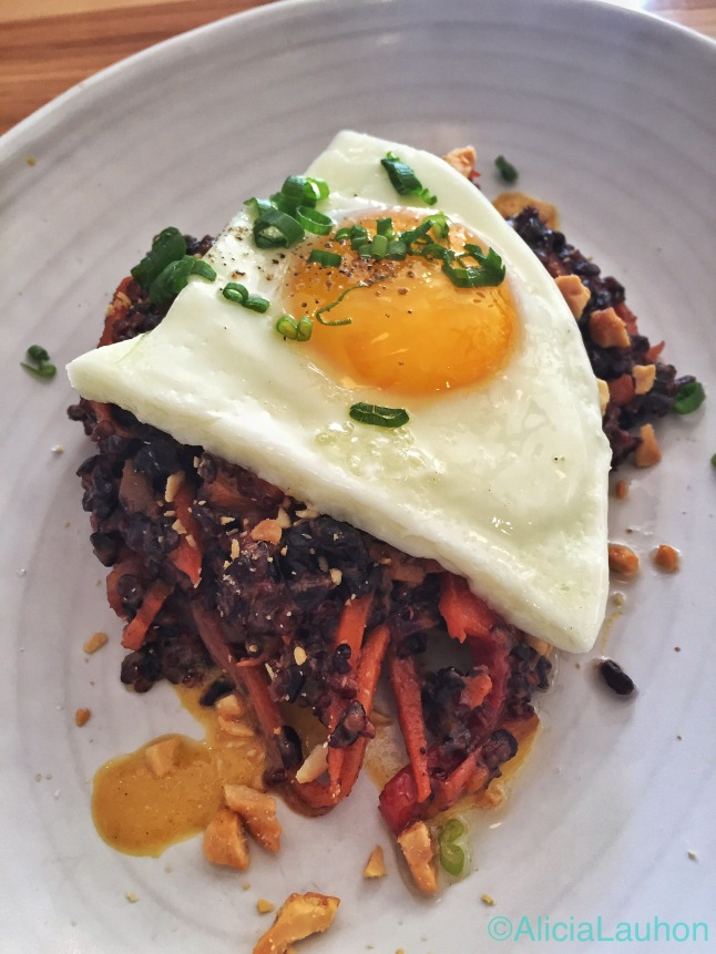 Fried Black Rice | AliciaTastesLife.com