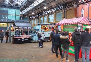Old Spitalfields Market Food Trucks | AliciaTastesLife.com