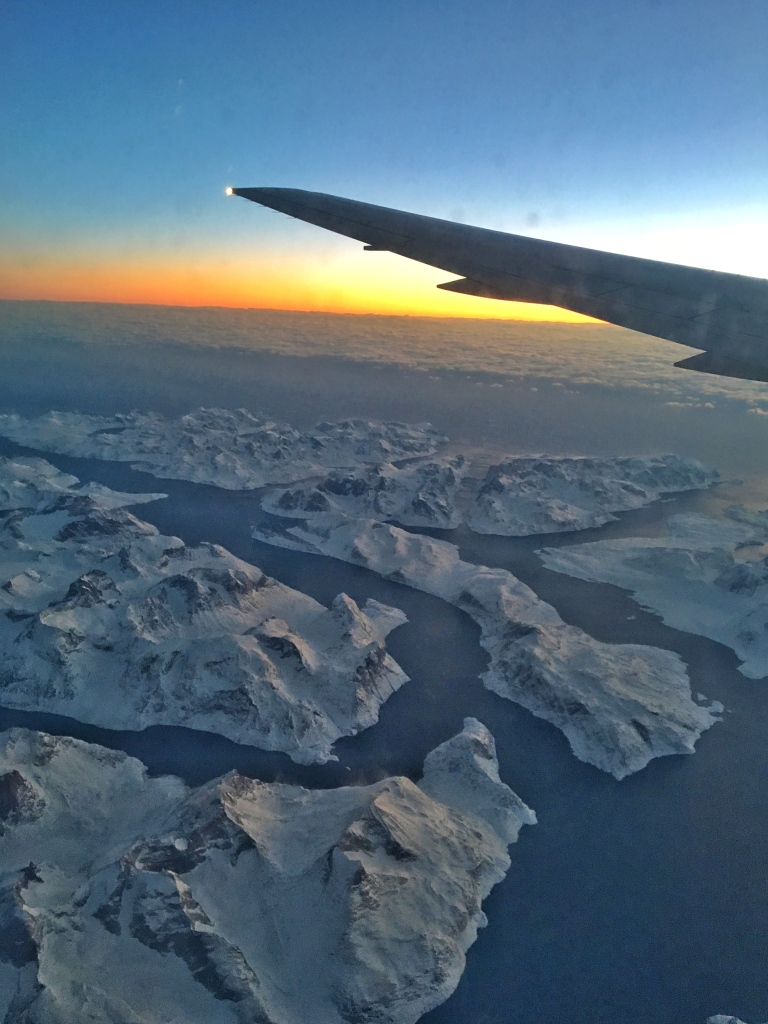 Sunset over Greenland