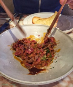 Chiltern Firehouse London Mixing The Steak Tartare