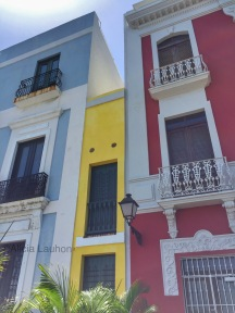 Old San Juan Blue Yellow Red Houses July 2017