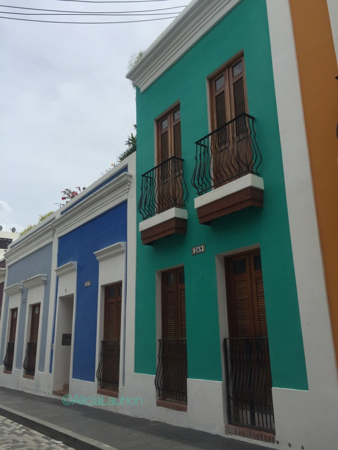 Old San Juan Houses in Blue July 2017