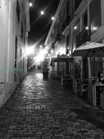 Old San Juan Street Black & White